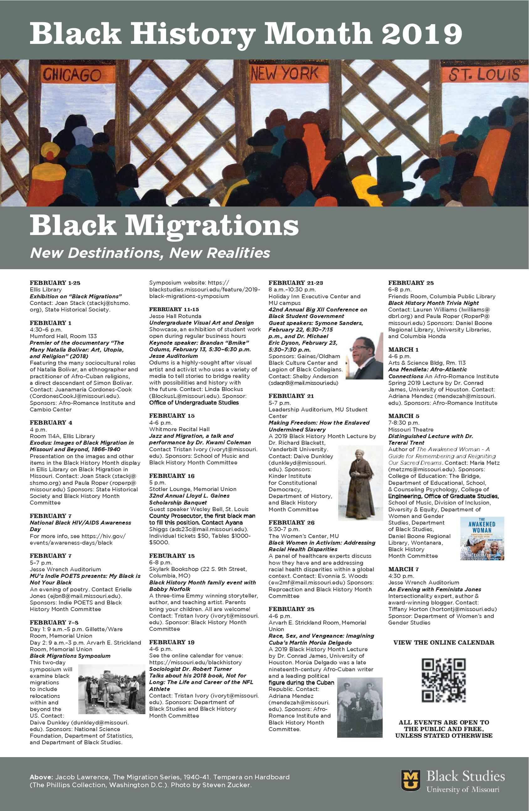 February 2019 Calendar Cook County -2017 -2016 MU 2019 Black History Month – Black Migrations: New Destinations