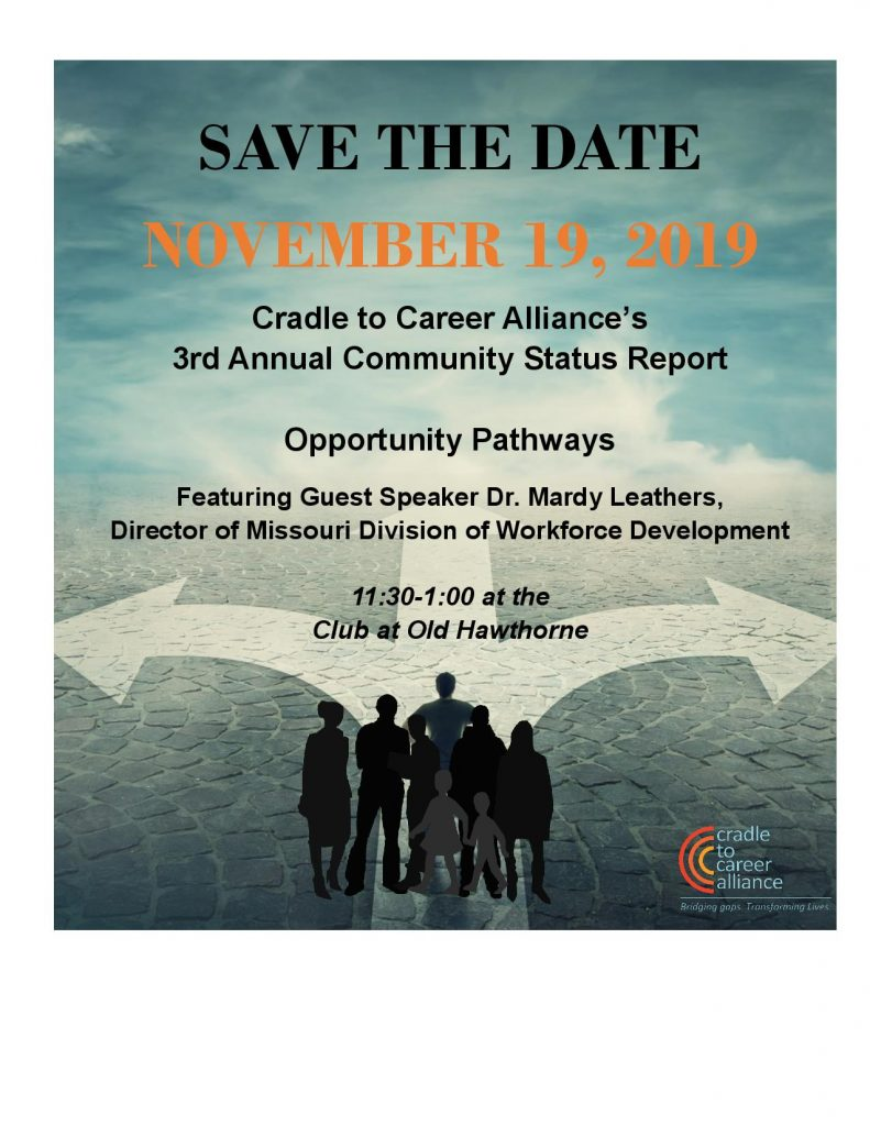 Cradle to Career Alliance 3rd Annual Community Status Report - Tuesday 11.19.2019 - Club at Old Hawthorne - 11:30am-1pm @ Club at Old Hawthorne | Columbia | Missouri | United States