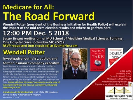 Medicare for All: The Road Forward – TODAY, Wednesday 12 5 2018 – MU