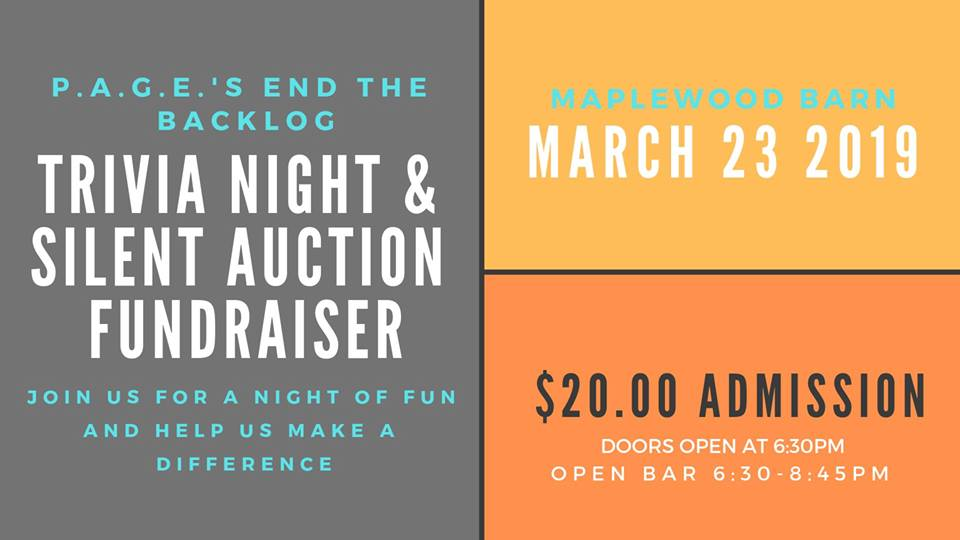 P.A.G.E. End the Backlog Event - Volunteers Needed - Saturday 3.23.2019 - Maplewood Barn Theatre - 6:30pm @ Maplewood Barn Theatre | Columbia | Missouri | United States