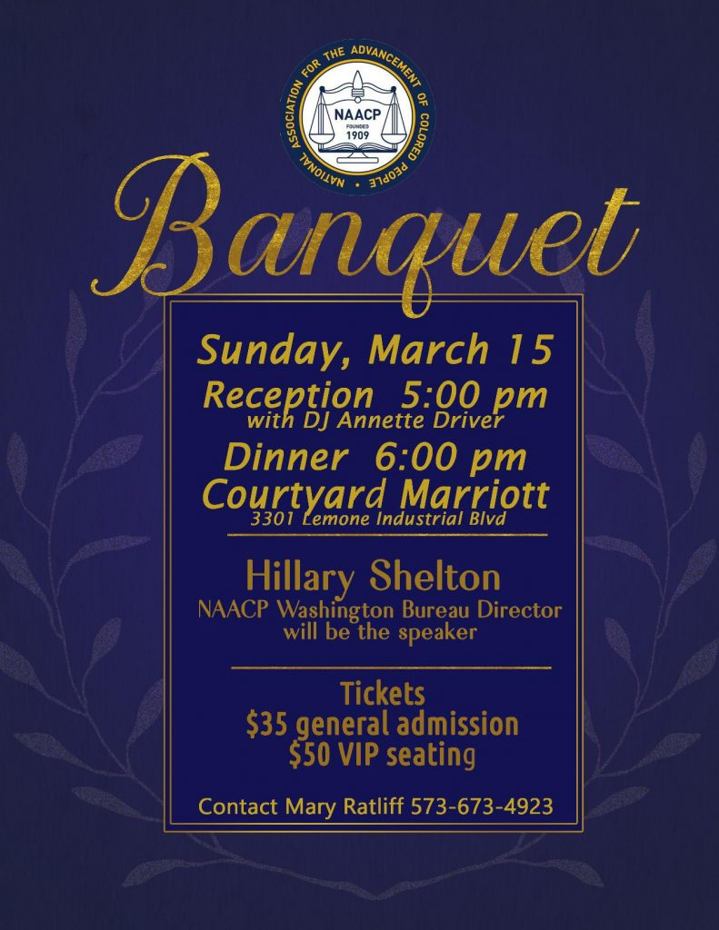 NAACP 2020 Annual Freedom Fund Banquet - Sunday 3.15.2020 - Courtyard Marriott - 5pm @ Courtyard Marriott | Columbia | Missouri | United States