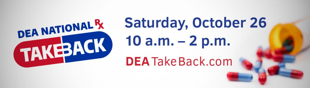 National Prescription Drug Take-Back Day - Saturday 10.26.2019 - Various Mid-MO Locations - 10am-2pm @ Various Locations in Boone County and Mid-MO