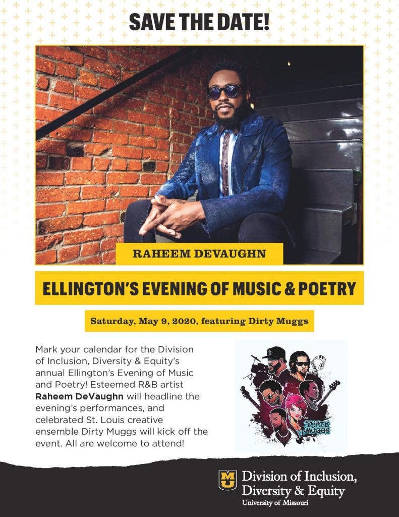 """Ellington's Evening of Music and Poetry"" Event - Saturday 5.9.2020 - Jesse Auditorium - 7pm @ MU Jesse Auditorium 