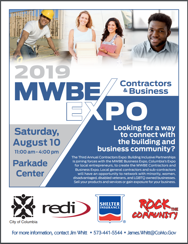 Minority and Women Owned Business Expo - Saturday 8.10.2019 - Parkade Center - 11am-4pm @ Parkade Center | Columbia | Missouri | United States