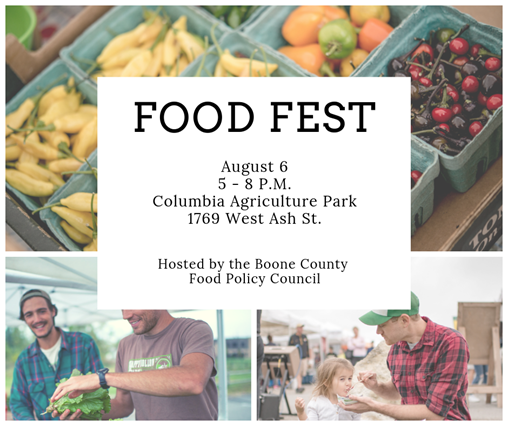Food Fest - Tuesday 8.6.2019 - Columbia Agriculture Park - 5-8pm @ Columbia | Missouri | United States