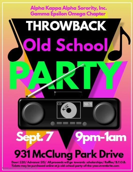 "Alpha Kappa Alpha ""Throwback Old School Party - Saturday 9.7.2019 - McClung Park Drive (Jeff City) - 9pm-1am @ Jefferson City | Missouri | United States"