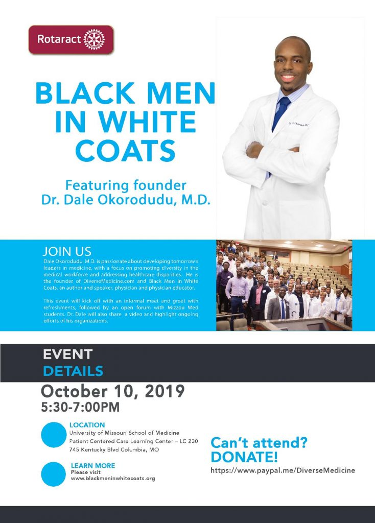 Black Men in White Coats - Thursday 10.10.2019 - MU School of Medicine - 5:30-7pm @ MU Med Patient Centered Care Learning Center - LC230 | Columbia | Missouri | United States