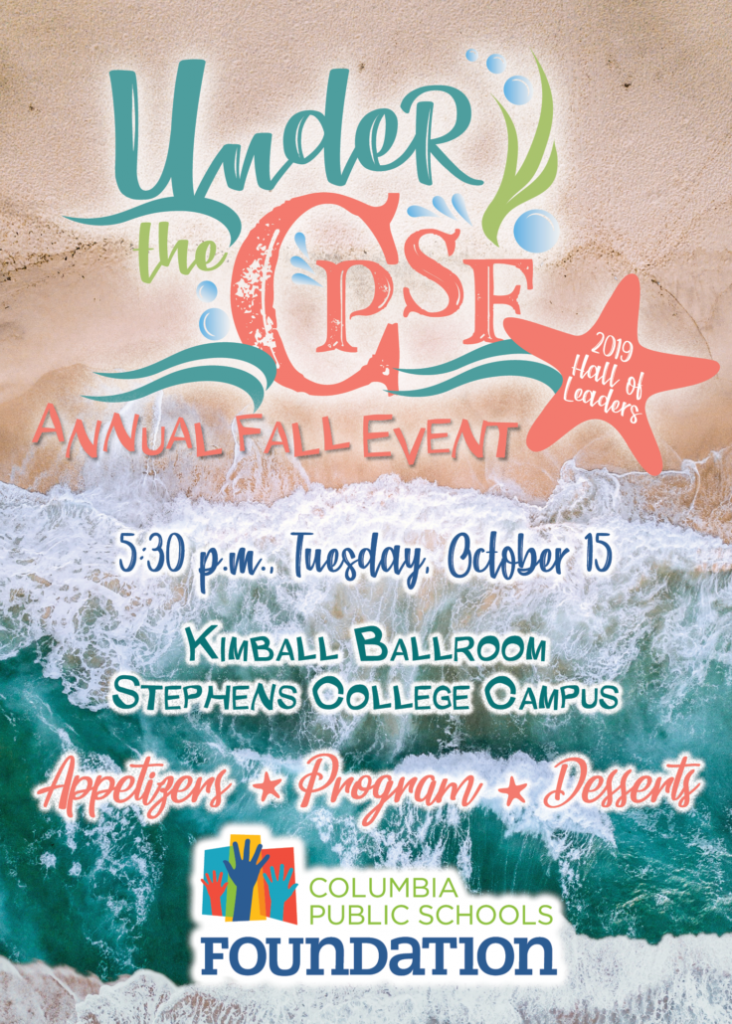 Columbia Public Schools Foundation 2019 Hall of Leaders Fall Event - TONIGHT Tuesday 10.15.2019 - Stephens College - 5:30pm @ Kimball Ballroom - Stephens College | Columbia | Missouri | United States
