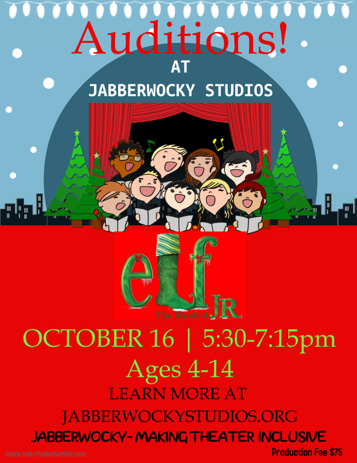 Auditions for Elf Jr. at Jabberwocky Studios - Wednesday 10.16.2019 - 1308 Grand Ave - 5:30-7:15pm @ Jabberwocky Studios | Columbia | Missouri | United States