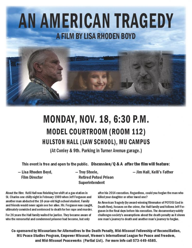 """An American Tragedy"" - Documentary Showing - Monday 11.18.2019 - MU Hulston Hall - 6:30pm @ Hulston Hall - MU Law School 