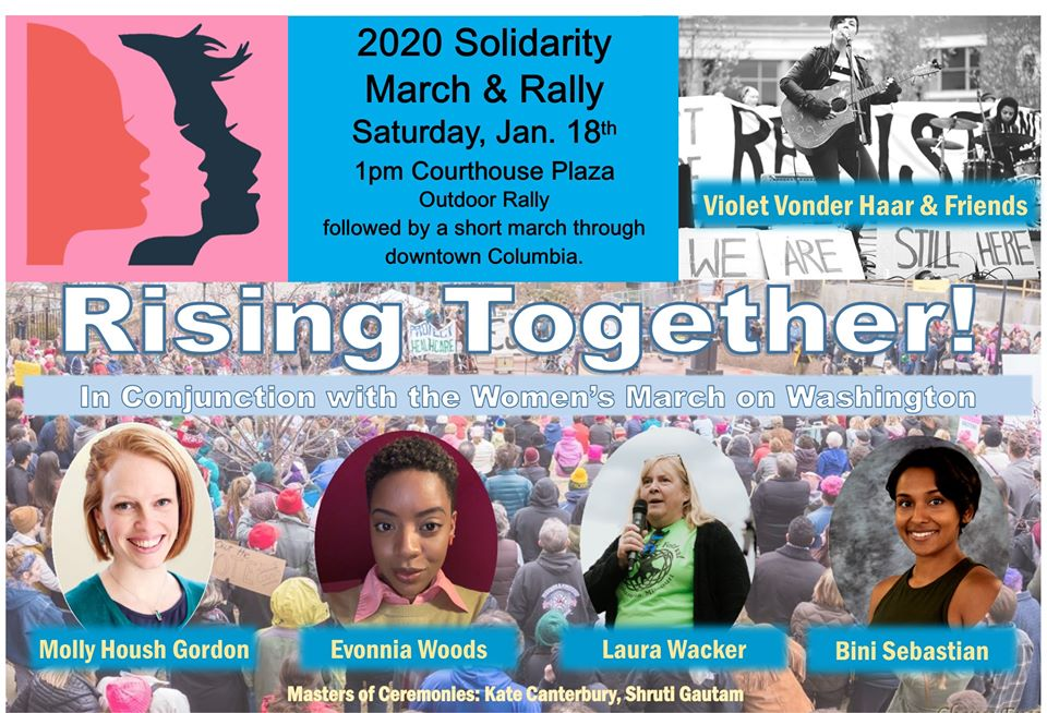 2020 Solidarity Rally and March UPDATED - Saturday 1.18.2020 - Courthouse Plaza Downtown Columbia - 1-2pm @ Boone County Courthouse Plaza Downtown   Columbia   Missouri   United States