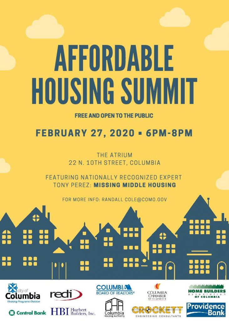 Affordable Housing Summit - Thursday 2.27.2020 - The Atrium - 6-8pm @ The Atrium | Columbia | Missouri | United States