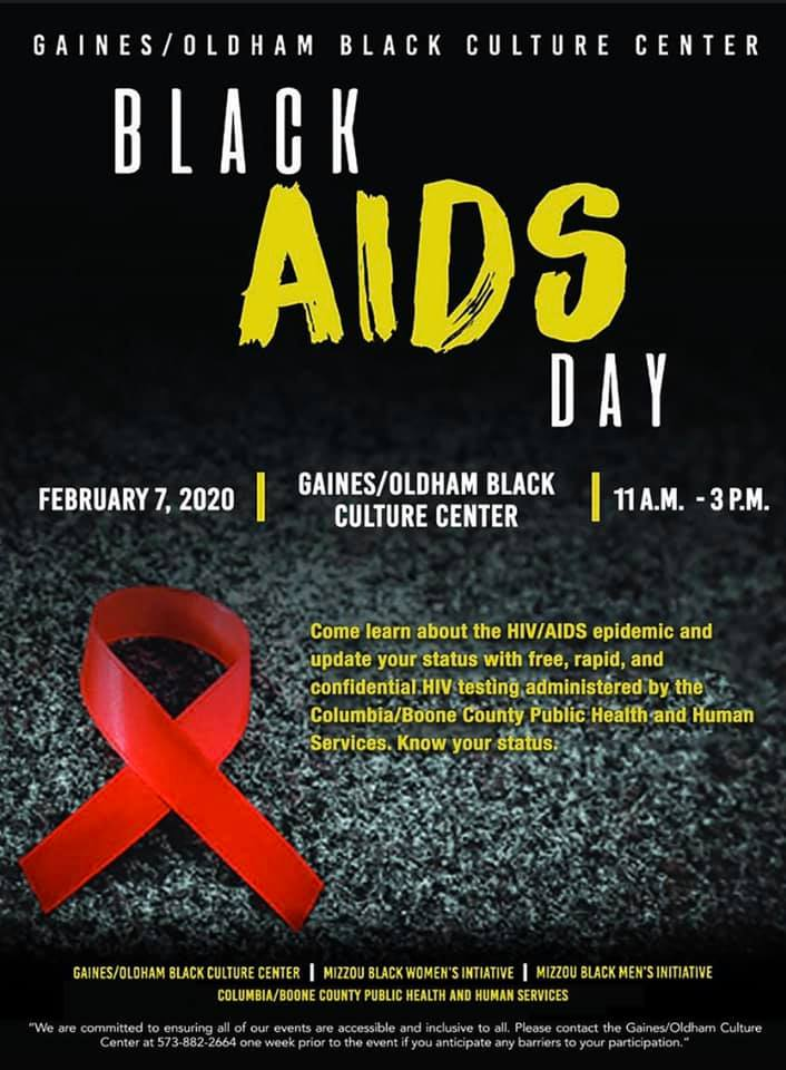 Black HIV/Aids Day - Screening Event - Friday 2.7.2020 - Gaines Oldham Black Culture Center - 11am-3pm @ Columbia | Missouri | United States