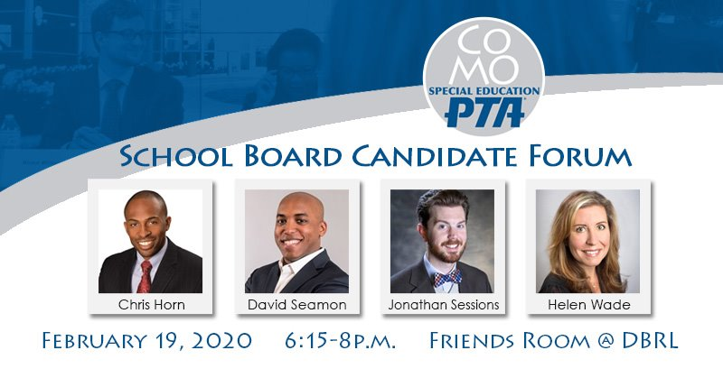 CoMo SEPTA School Board Candidate Forum - Wednesday 2.19.2020 - Columbia Public Library - 6:15-8pm @ Daniel Boone Regional Library | Columbia | Missouri | United States